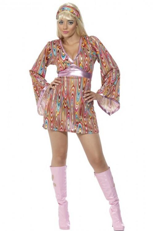d guisement disco femme hippie les costumes disco femme hippie. Black Bedroom Furniture Sets. Home Design Ideas