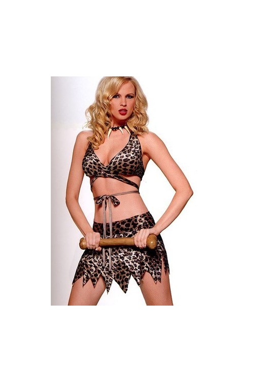 lingerie leopard femme