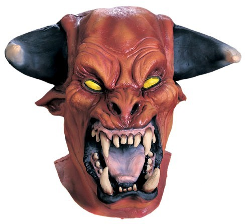 Masque chien de l 39 enfer de luxe et masque halloween - Masque qui fait peur a imprimer ...