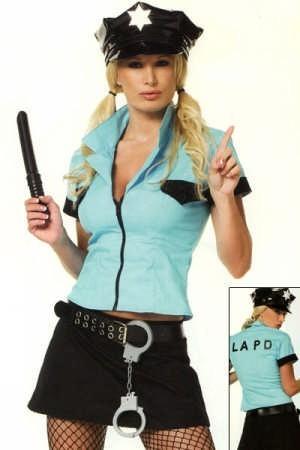 d guisement de femme policier costume adulte flic. Black Bedroom Furniture Sets. Home Design Ideas
