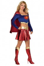 Costume super girl sexy (haut + jupe)