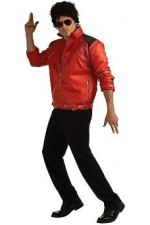 "Veste rouge luxe ""Beat it"" Michael Jackson®"