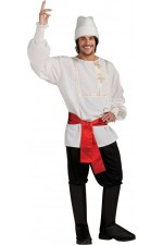 Costume homme russe blanc - Taille Unique