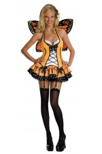 Costume sexy Papillon orange