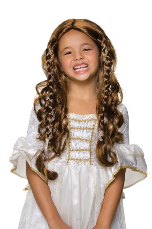 Perruque enfant princesse chatain
