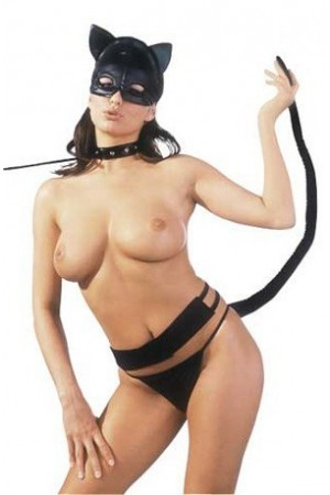Costume de chat latex sexy