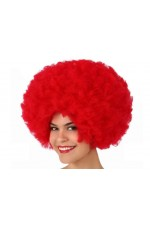 Perruque Afro Rouge