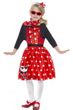 Robe rouge Hello Kitty