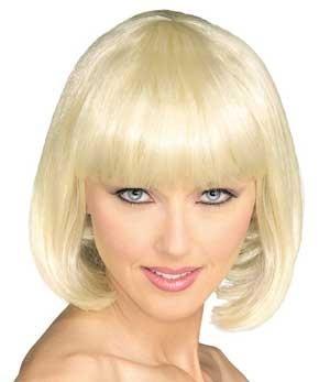 Perruque Blonde en carré : Déguisement et