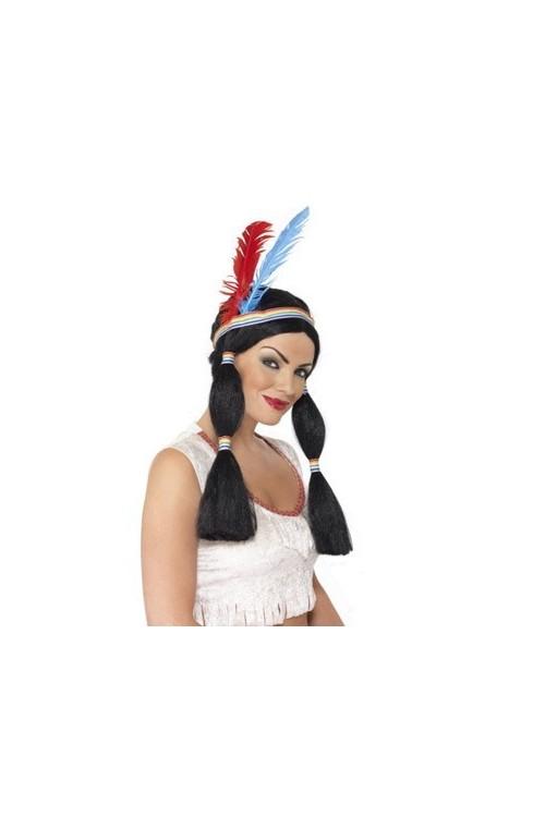 Perruque pocahontas d guisement et vente de perruque femme - Deguisement pocahontas femme ...