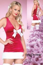 Robe de Noël Noeud Satiné