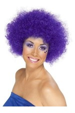 Perruque Afro Violet